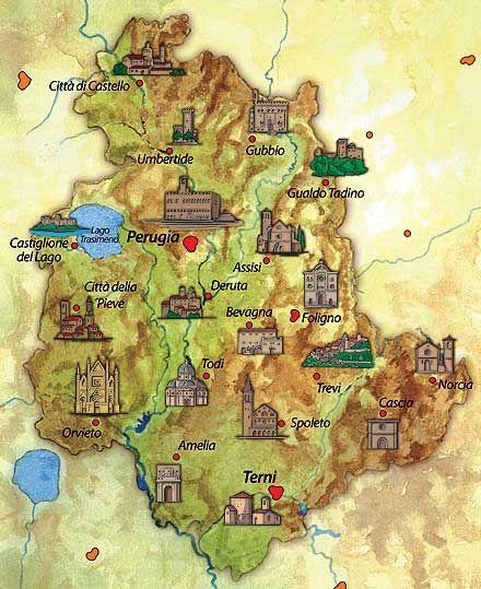 Albania Cartina Stradale.Umbria Tuscanyagriturismogiratola Umbria Museo Viaggi