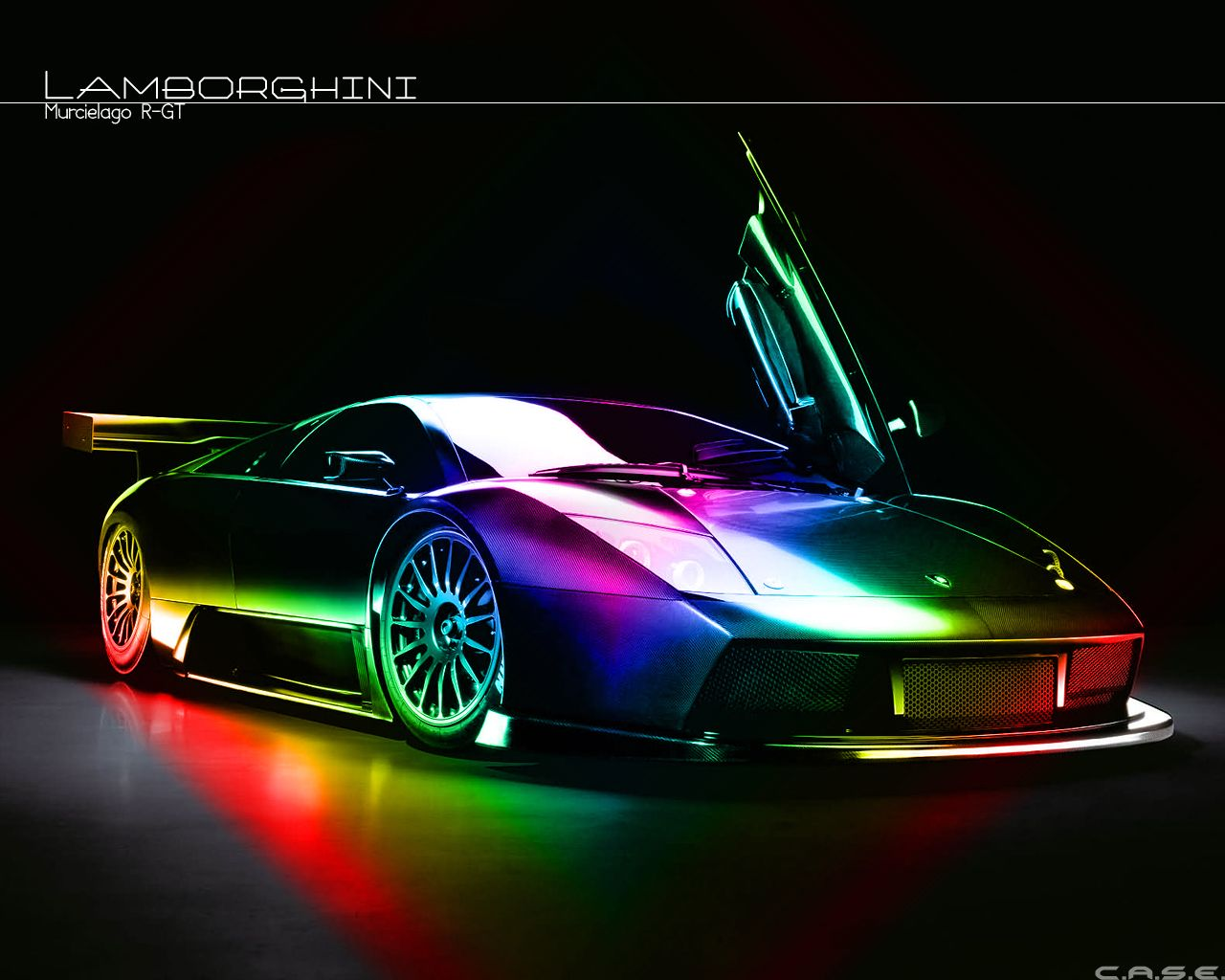Rainbow Wallpaper Galaxy Lamborghini