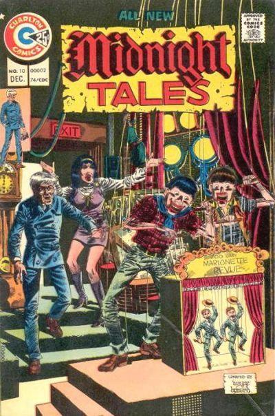 Arachne and Professor Coffin in Charlton Comics' Midnight Tales. #MidnightTales #CharltonComics
