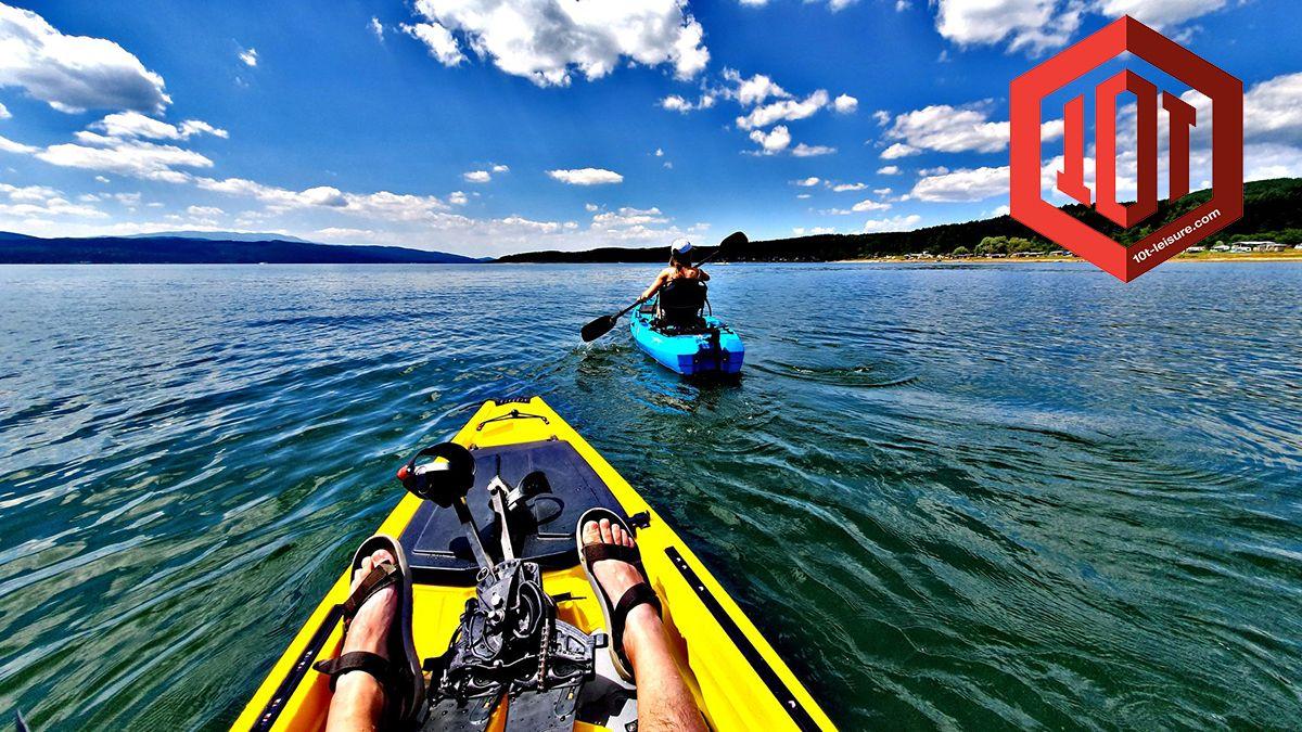 Fishing Pedal kayak from 10T leisure, lake pedaling