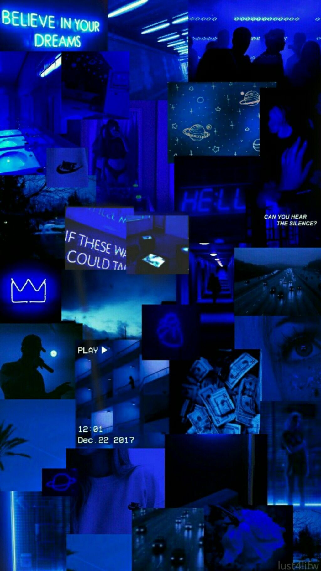 MASHUP Blue wallpaper iphone, Black aesthetic wallpaper