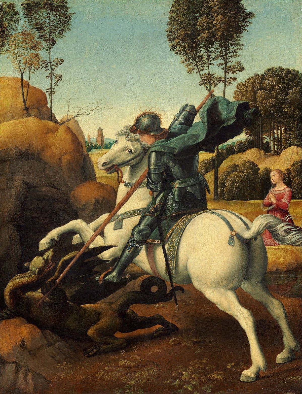 Raphael - Saint George and the Dragon Poster