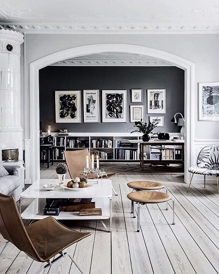 Stockholm Scandi Chic Living Room Gray And White Bleached Pine