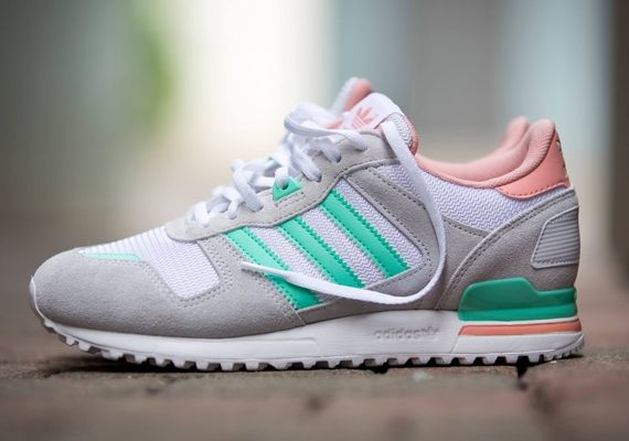 Adidas Zx 700 Running Suede Shoes White Pink Womens Grey Save Up