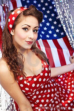 sexy patriotic american girl by tomasz tulik via dreamstime 4th of july mini pinterest. Black Bedroom Furniture Sets. Home Design Ideas