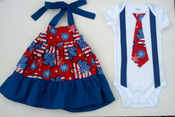 b5ff6b1ba 4th of July Boy Girl Twin Brother Sister Matching by TheTwinShop ...
