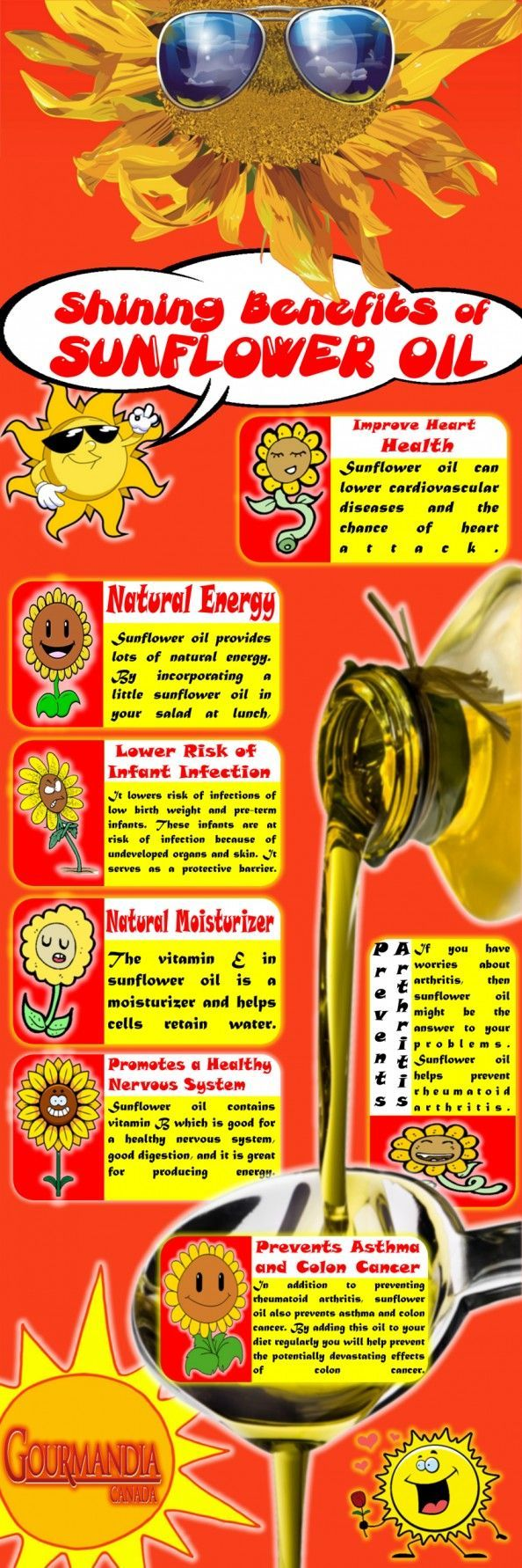 benefits of sunflower oil | Shining Benefits of Sunflower Oil Infographic | Pillows