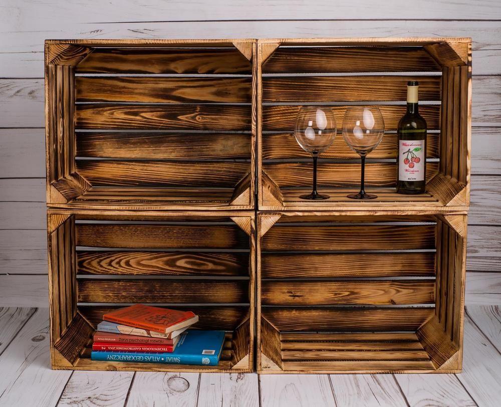 weinkisten regal weinkisten als regal organization ideas t. Black Bedroom Furniture Sets. Home Design Ideas