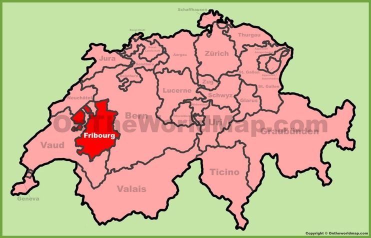 Canton of Fribourg location on the Switzerland map Maps