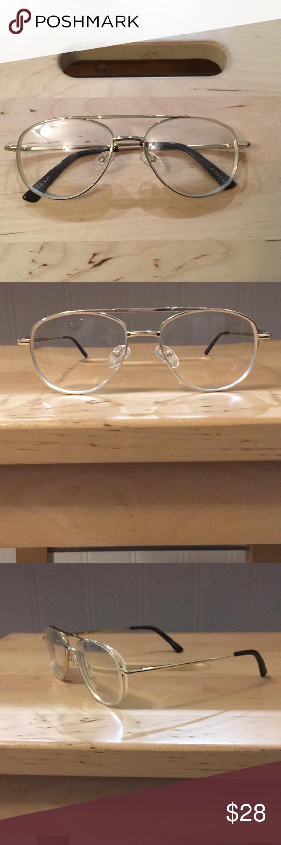 Gold Aviator Transition Glasses/Sunglasses Never worn