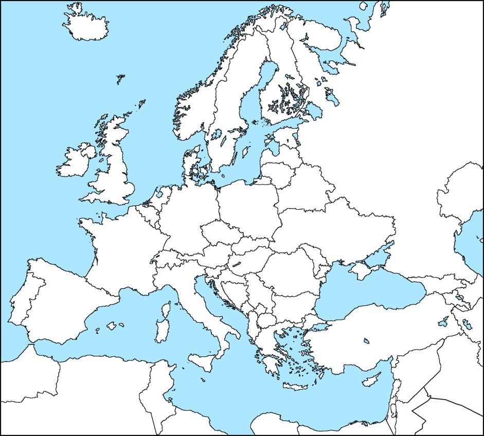 I like this version of a blank map of europe history geography i like this version of a blank map of europe gumiabroncs