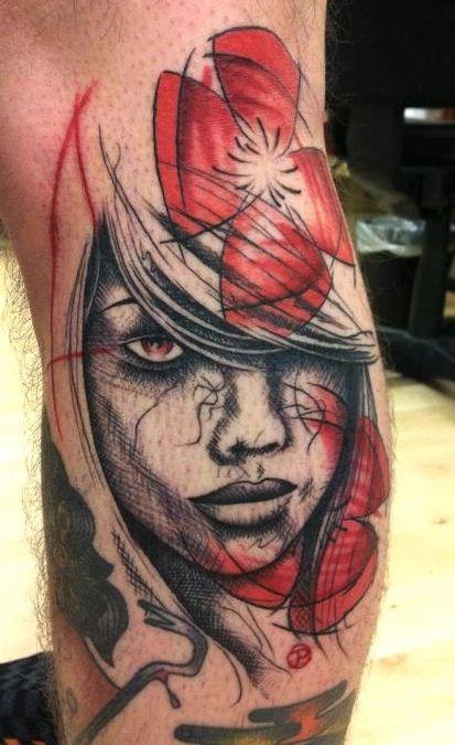 Woman tattoo by Jacob Pedersen | Photo No. 7612