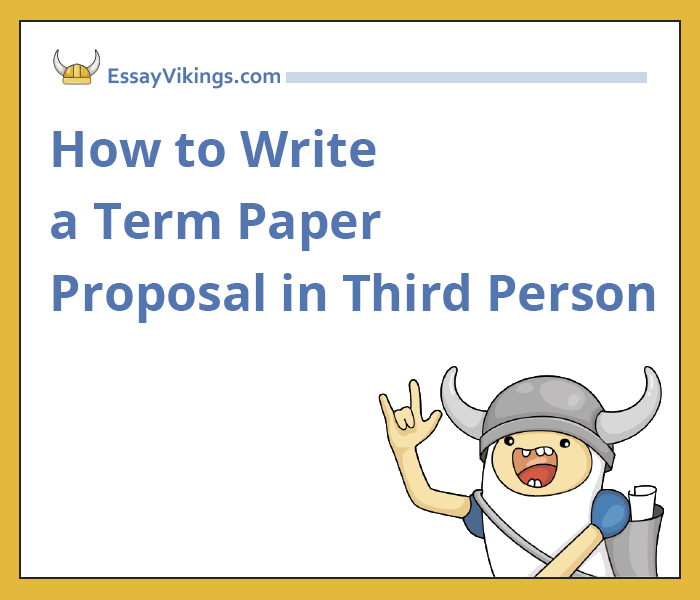 academic writing third person