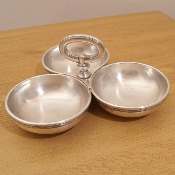 3 Bowl Condiment Dish || Vintage Sant Andrea Italy Oneida & 3 Bowl Condiment Dish || Vintage Sant Andrea Italy Oneida | Bowls ...