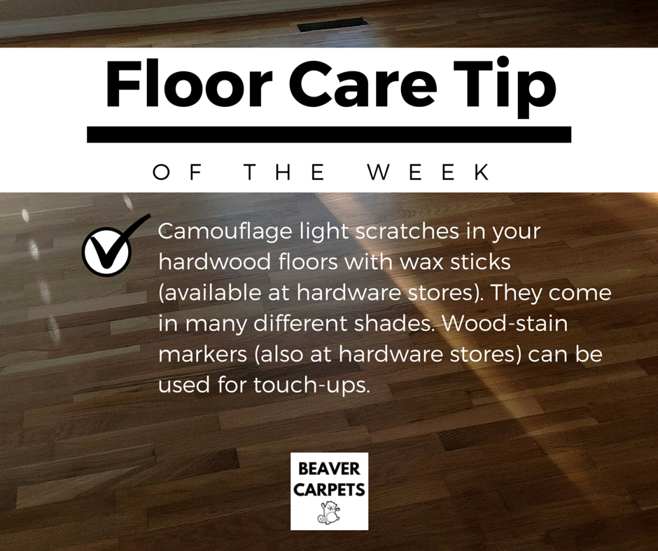 #Floor Care #tip - camouflage light scratched with wax sticks.