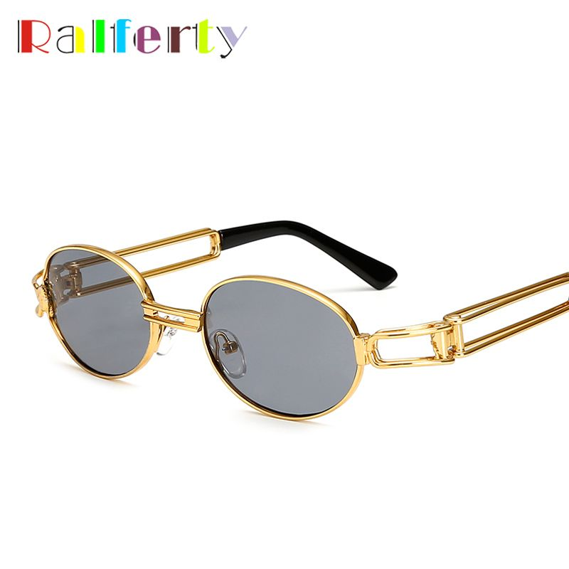 d0ac733e7d Ralferty 2017 Hip Hop Retro Small Round Sunglasses Women Vintage Steampunk  Sunglasses Men Gold Glasses Frame Eyewear Oculo UV400