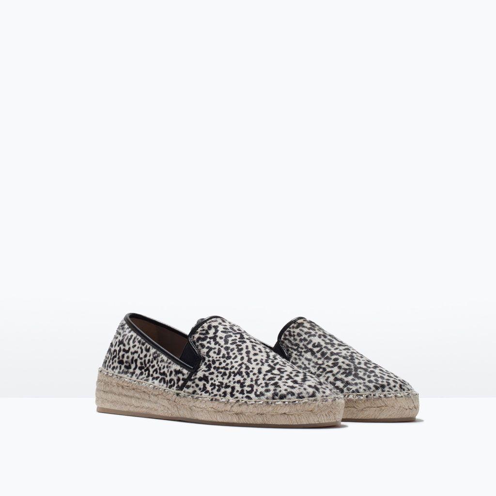PRINTED LEATHER ESPADRILLES-Shoes-Woman-SHOES & BAGS | ZARA Romania