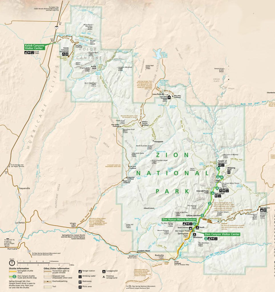 A Travel Guide To Zion National Park Inspired Nomad National Parks National Park Camping National Parks Map