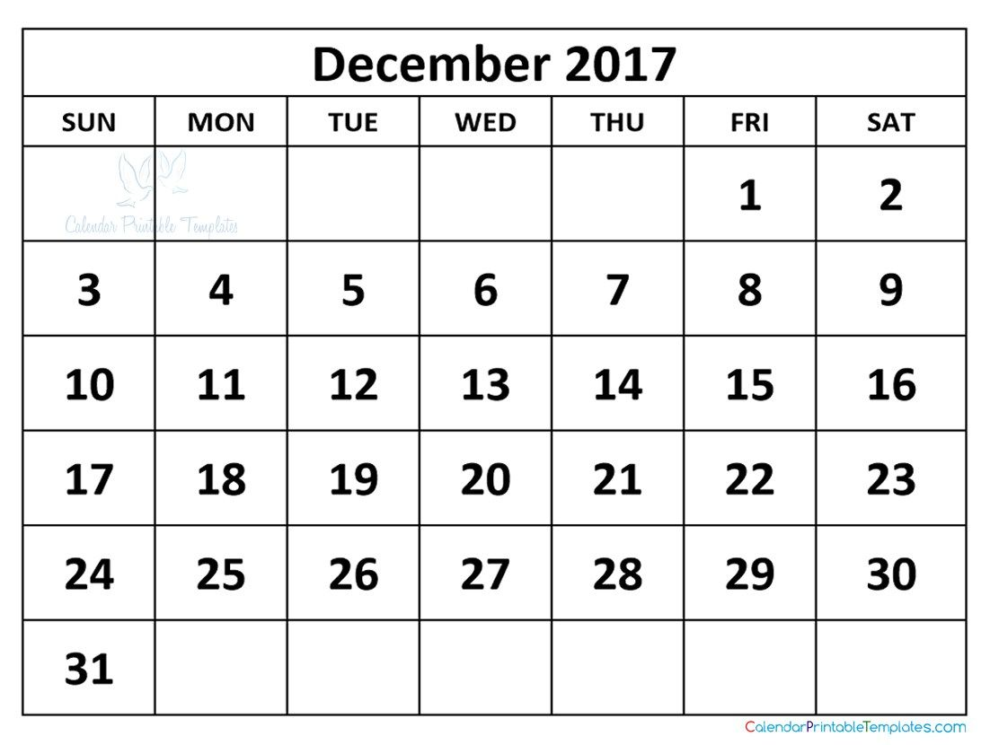December  Calendar Printable  December  Calendar