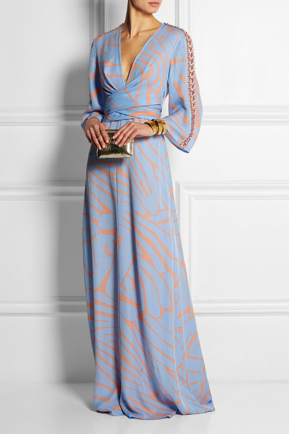 Long dresses for summer wedding  Issa  Francesca printed silkgeorgette maxi dress  NETAPORTER