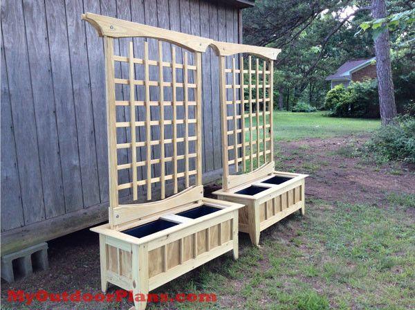 Cucumber Trellis With Planter Backyard Pergola Pergola 400 x 300