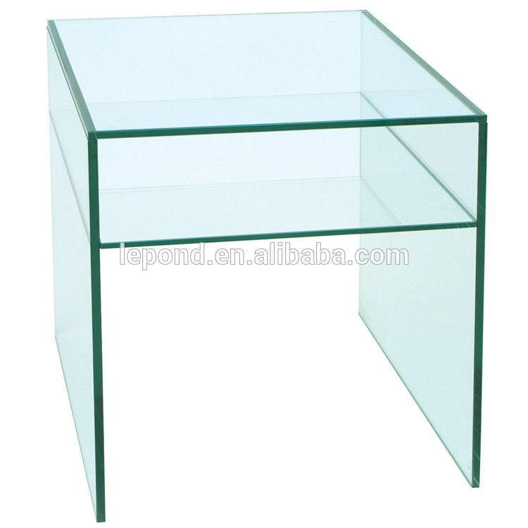 Italy Pure Glass Side Table Cheap Glass End Tables For Living