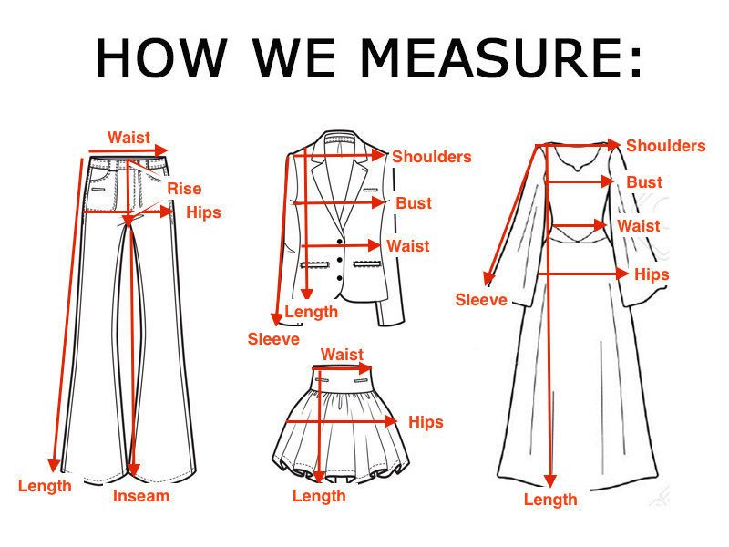Pin by sheryl williams on clothes measurements ebay