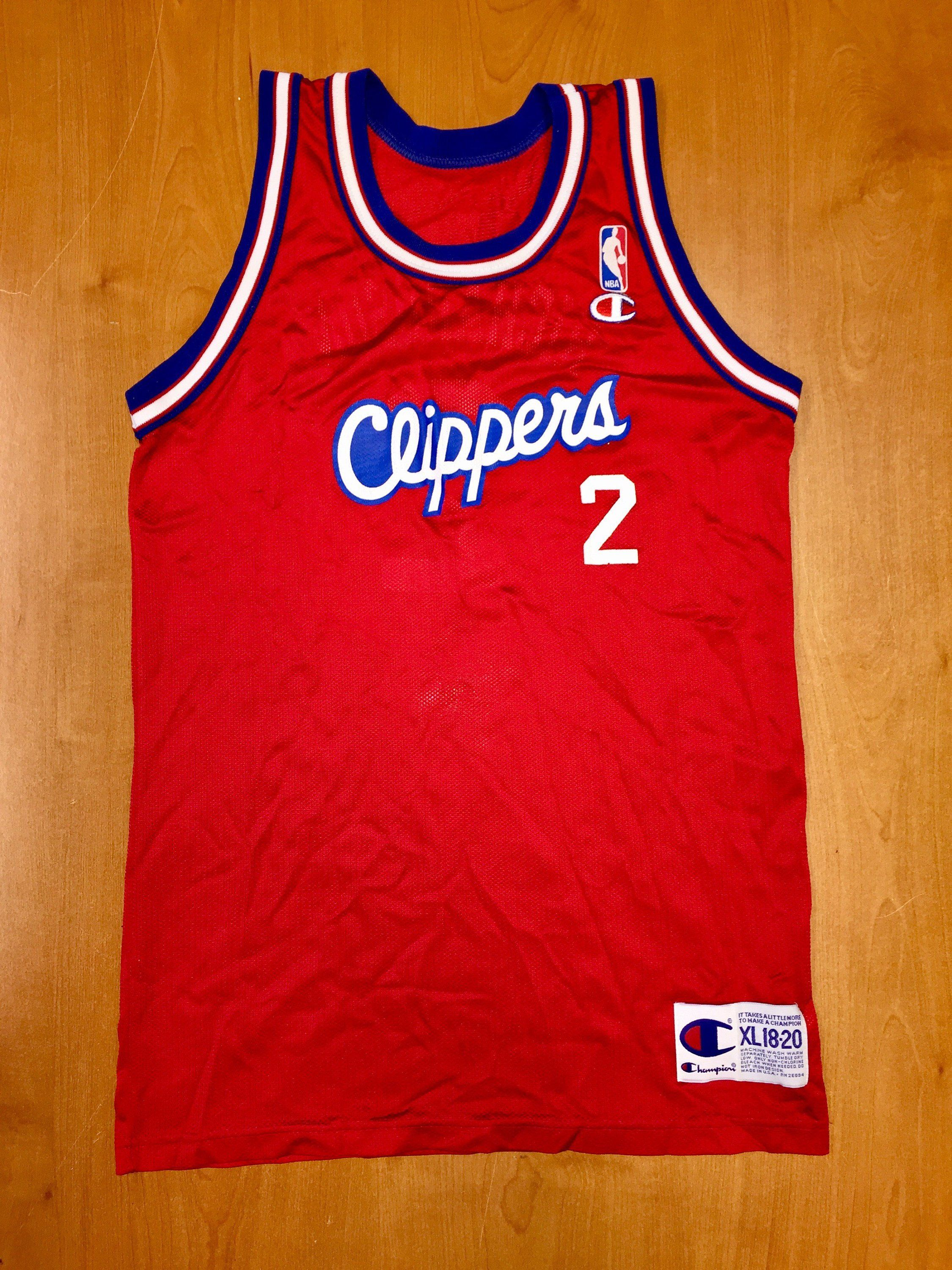 03f2f755b Vintage 1994 Pooh Richardson Los Angeles LA Clippers Champion Jersey Size  Youth XL dominique wilkins michael olowakandi quentin shirt hat by ...