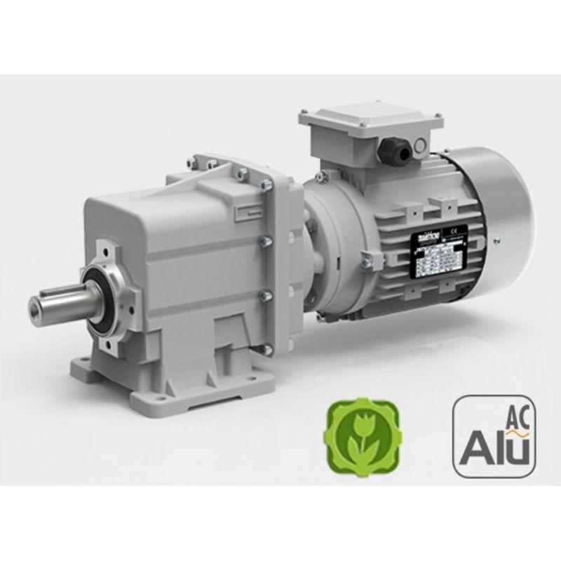 Motoréducteur Coaxial CMG002 i2158 Ø16 Taille80 4pôles 055Kw IE1 B14 sans pattes alu  TECHNOINDUS