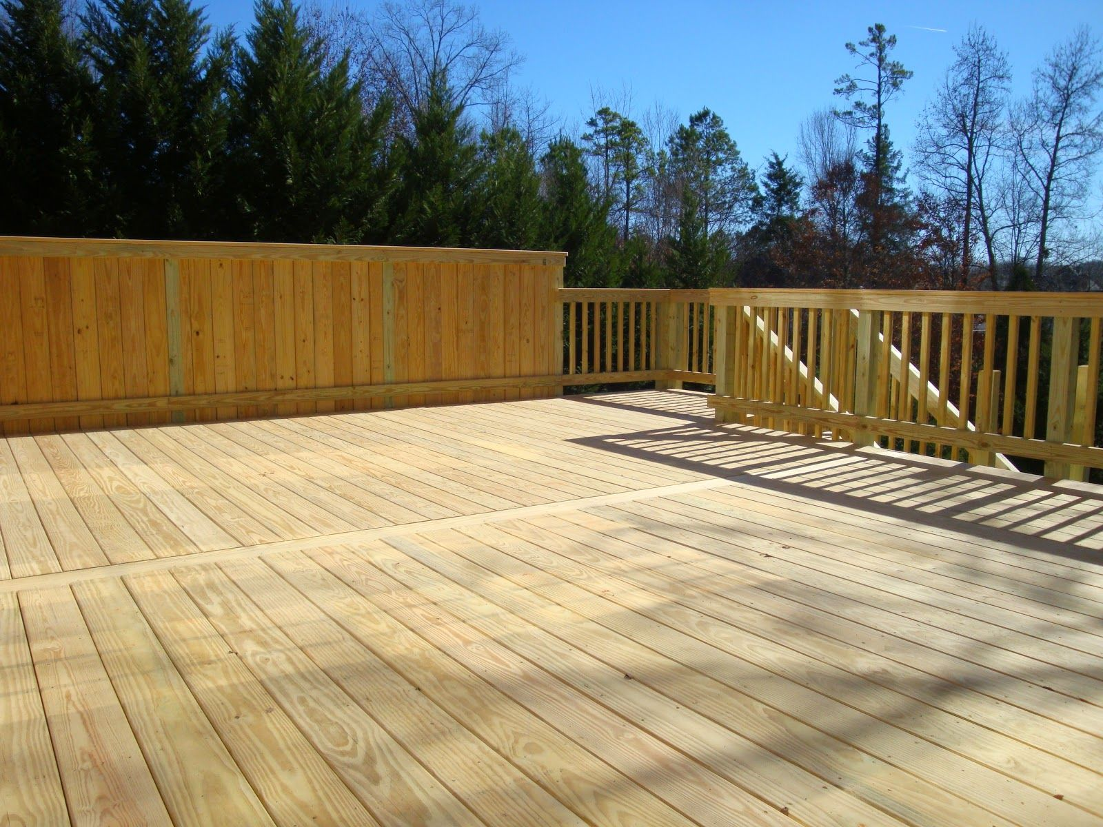Kdat Deck By Porch Life If You Decide To Use Treated Deck Boards