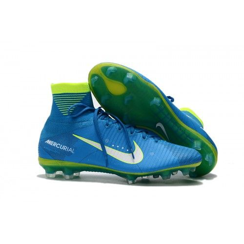 quality design d4fe8 32069 Botas De Futbol Nike Mercurial Superfly V Neymar FG Azul Blanco Volt