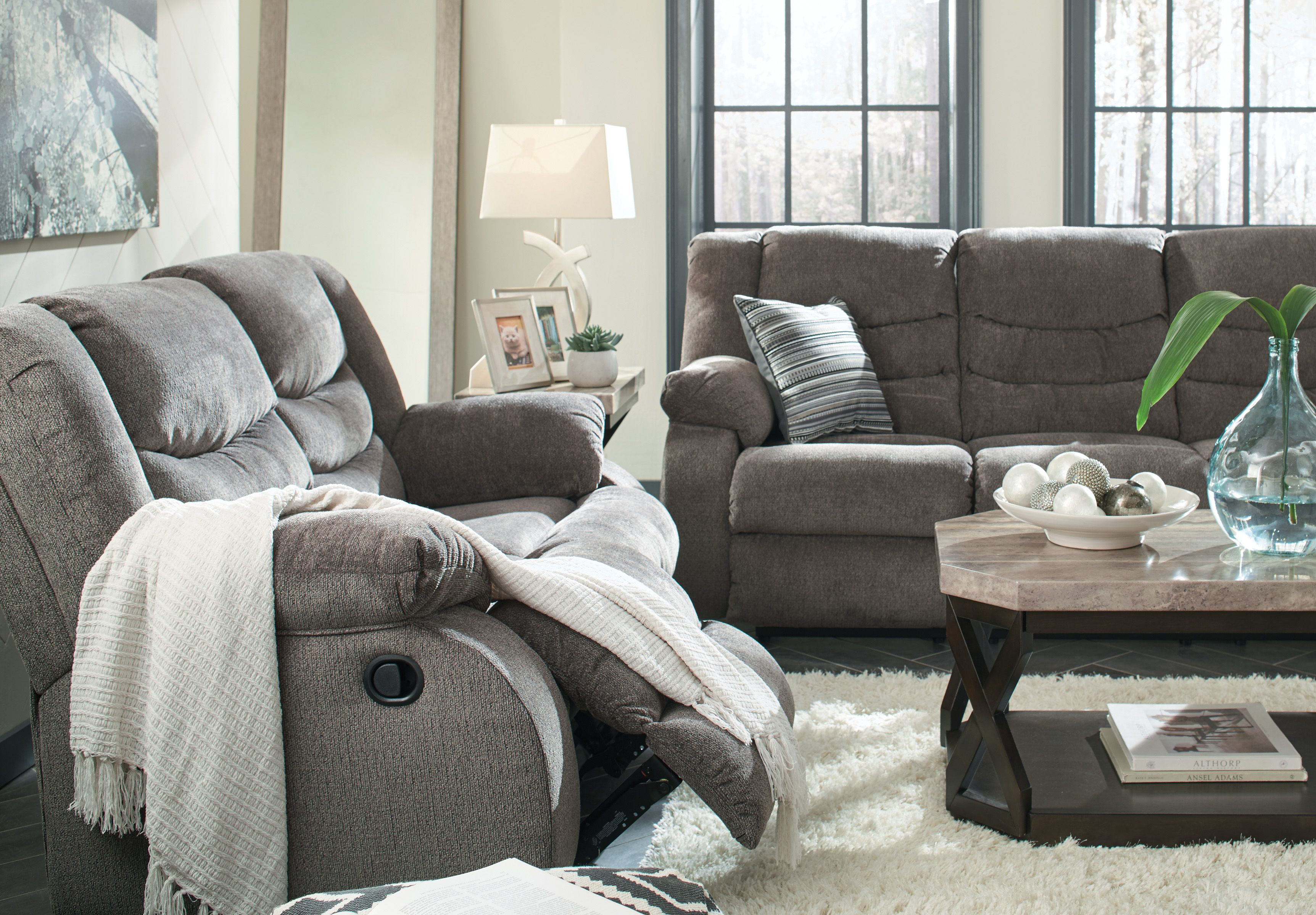 Ashley Tulen Reclining Sofa Homemakers Furniture Contemporary Decor Living Room Living Room Designs Classy Living Room