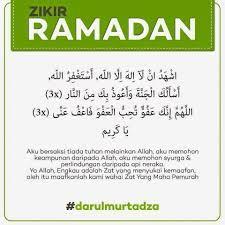 Zikir Bulan Ramadhan Doa Agama Hidup
