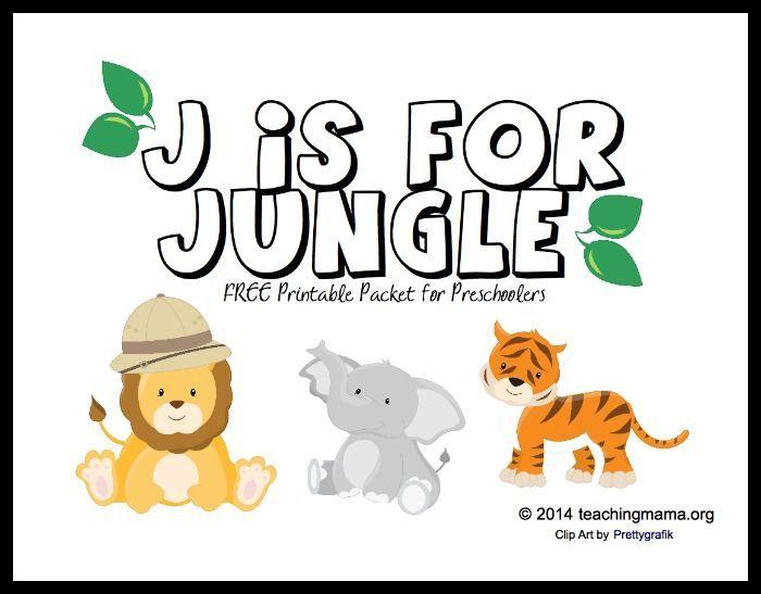 j is for jungle letter j printables preschool jungle abc crafts and preschool learning. Black Bedroom Furniture Sets. Home Design Ideas