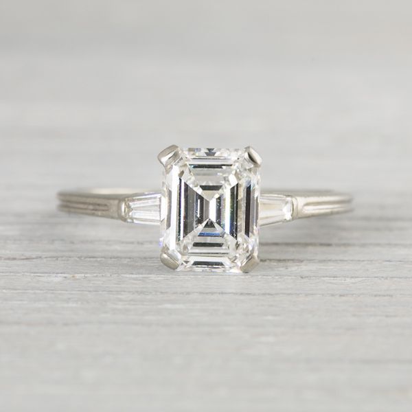 1 41 Carat Vintage Tiffany Amp Co Emerald Cut Engagement
