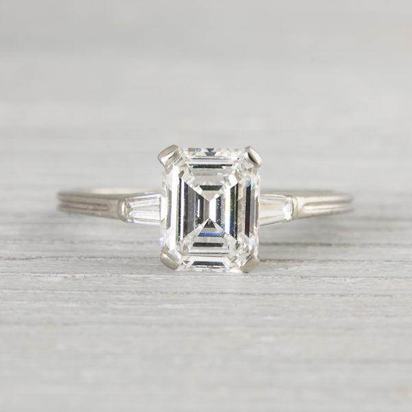 1.41 Carat Vintage Tiffany & Co. Emerald Cut Engagement Ring | New York  Vintage &