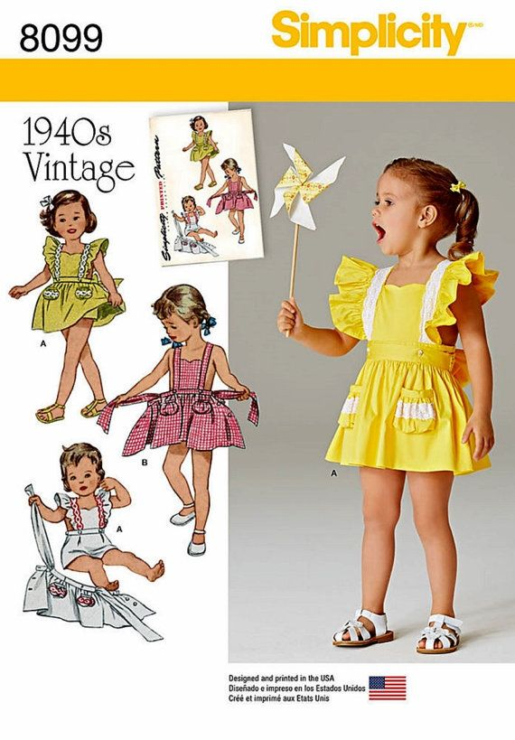 3da40adb856 1940 s Baby Girl Romper Pattern Toddler s Vintage by blue510