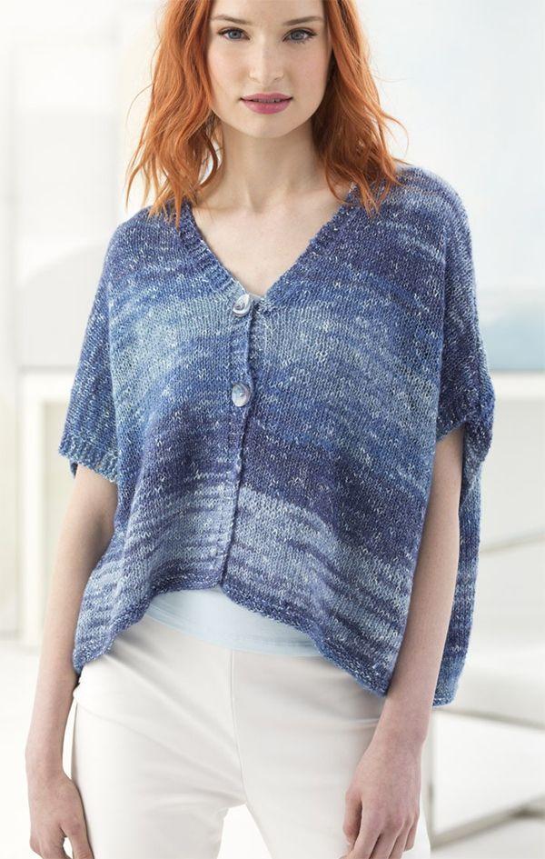 Free Knitting Pattern for Easy Breezy Cardi - Knit in 3 ...