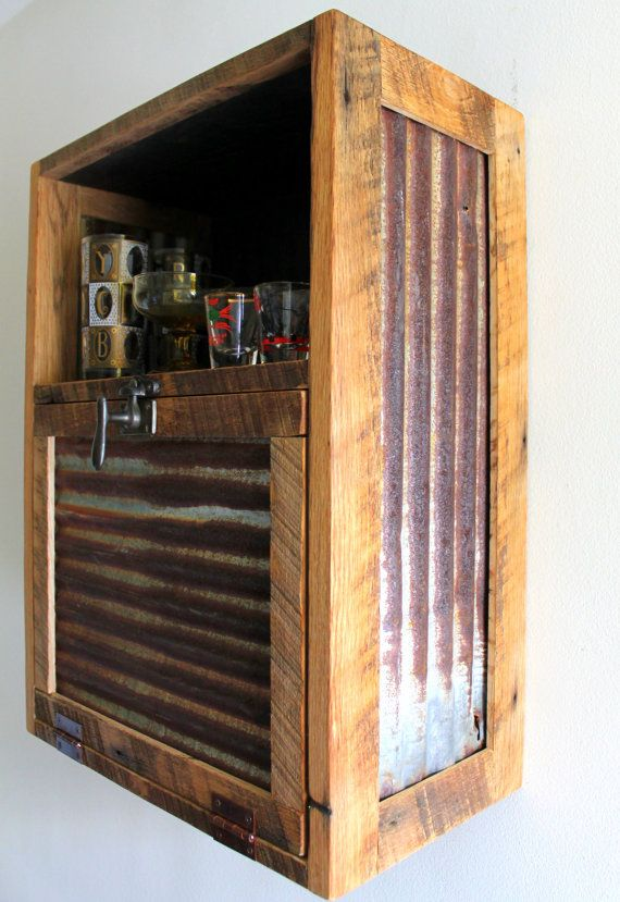 Rustic Hanging Liquor Cabinet Murphy Bar By Inglewoodcrafters Modern Bar Cabinet