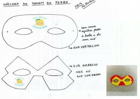 Resultado De Imagem Para Molde De Mascaras Dos Vingadores Para