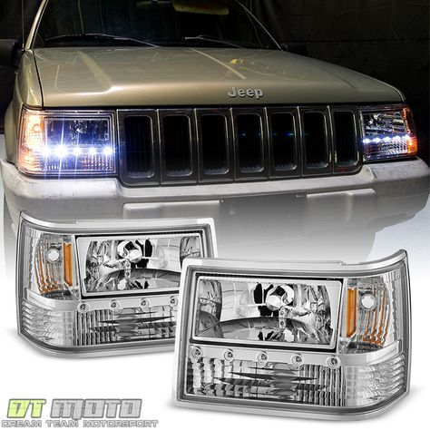 1993 1998 Jeep Grand Cherokee 6in1 Drl Led Headlights Corner Per Lights 93 98 Dtmoto