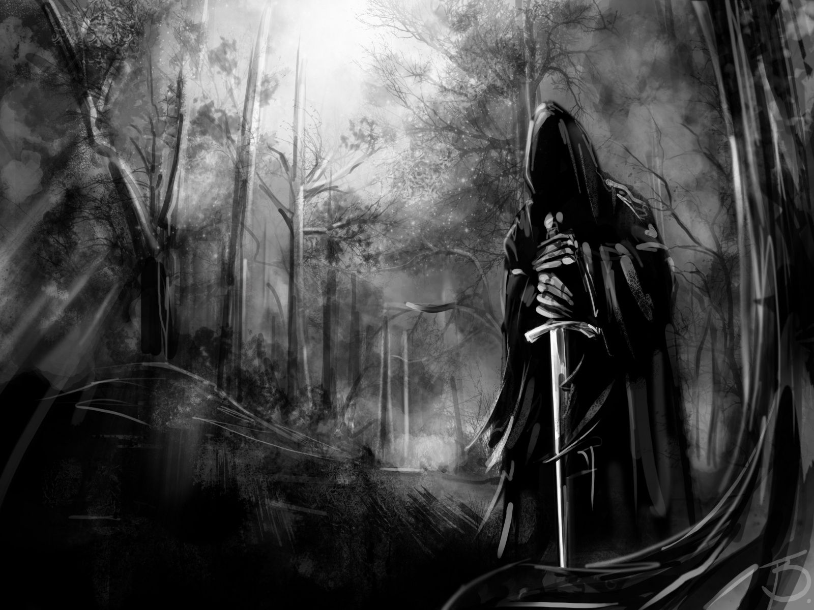 Hd Dark Wallpapers Abstract Dark Forest Wallpaper Hd