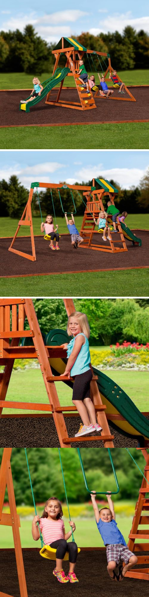 swings slides and gyms 16515 backyard discovery madison cedar