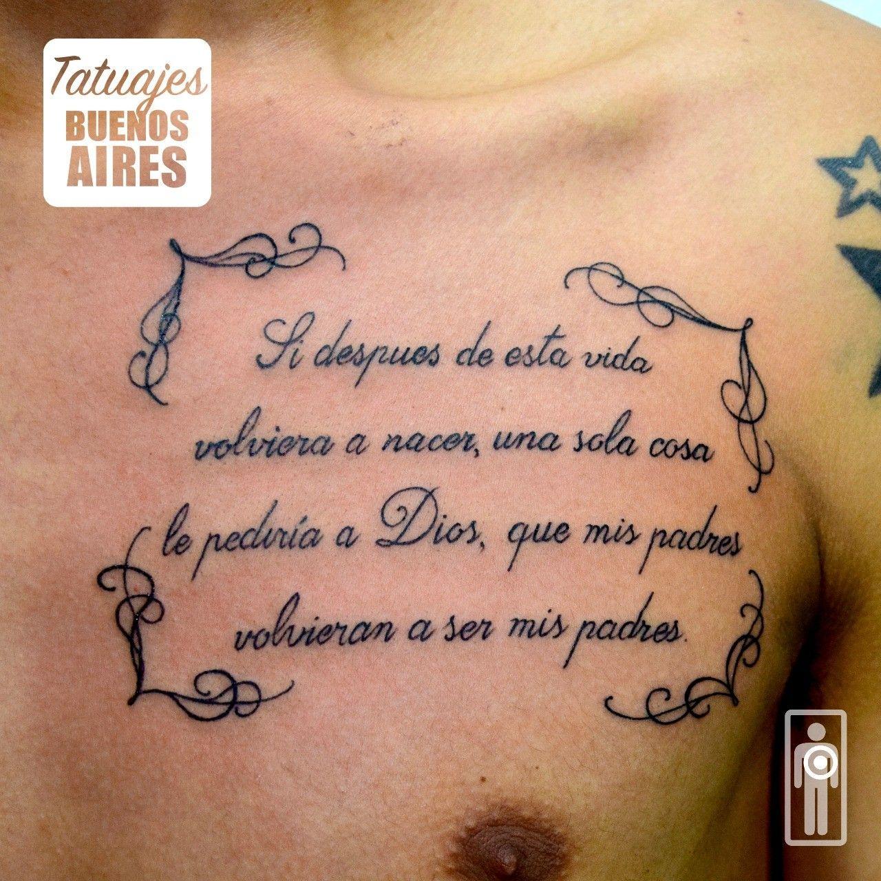 Leyenda De Vida En El Pecho Realizado En Tatuajes Buenos Aires Por