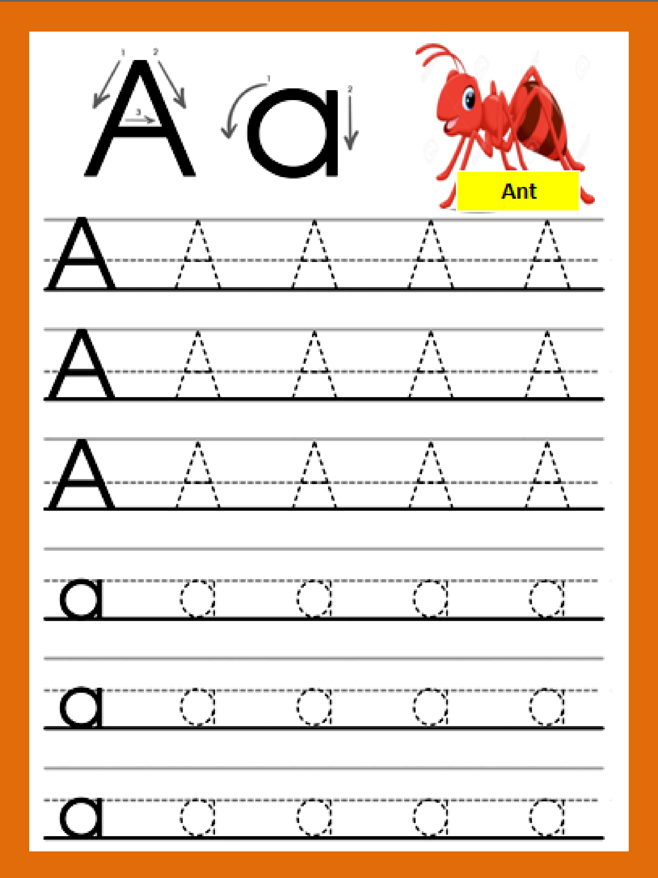 Letter A In