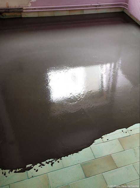 Faire un sol en béton ciré sur du carrelage Salons, Construction - peinture sol sur ragreage