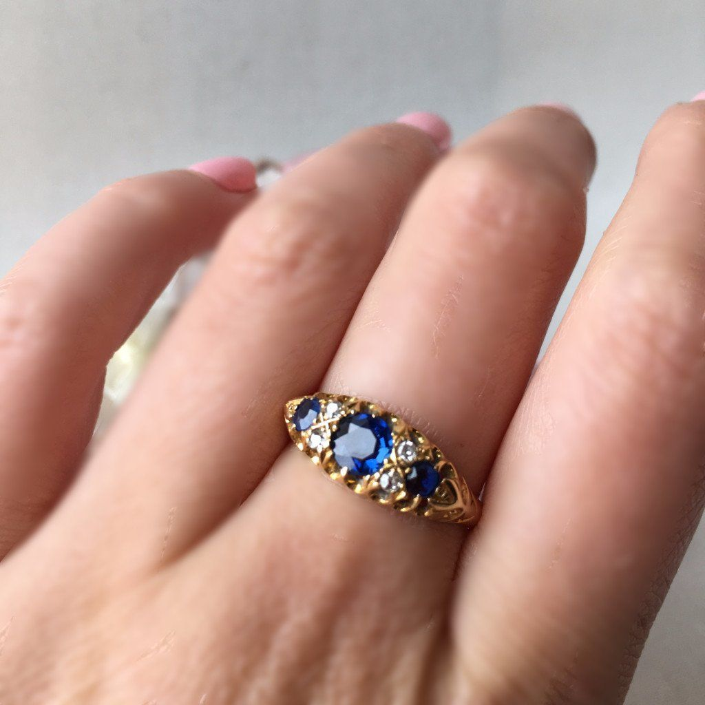 Empire Sapphire And Diamond Ring