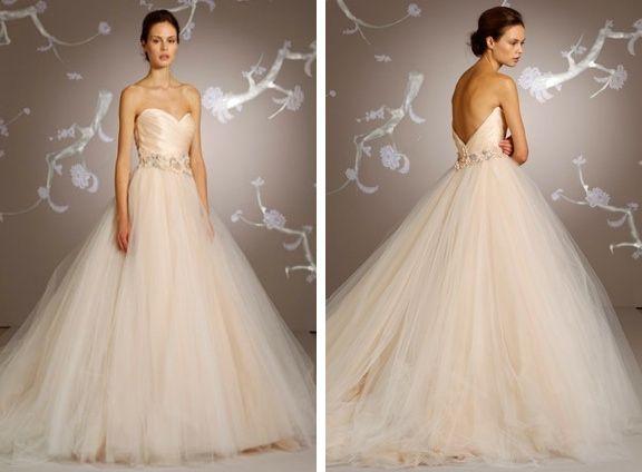 Blush Ball Gown Wedding Dress: 2013 Wedding Fashion Trends