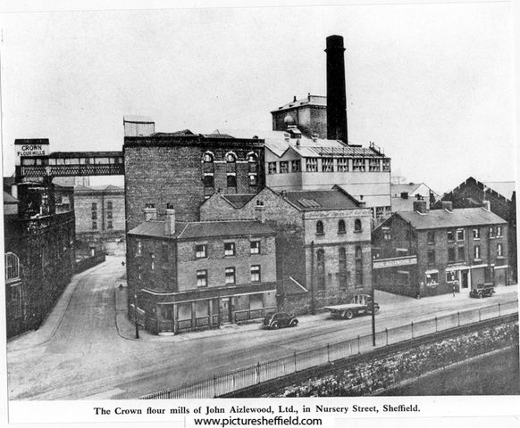 Crown Corn Mills John Aizlewood Ltd Flour Millers Nursery Street Also Called Provender Mill And Manchester Hotel At Junction Of Spitalfields