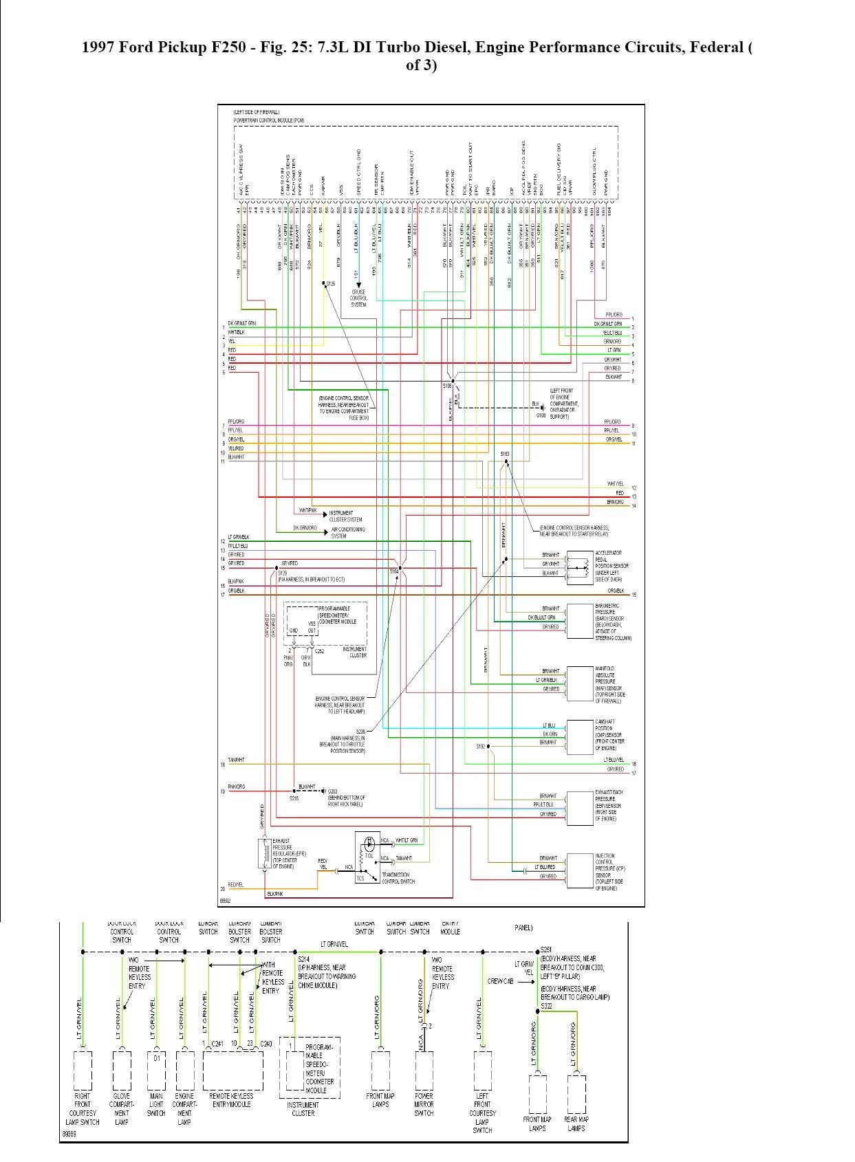 Where Can I Find A Complete Wiring Schematic For A 1997 Ford F350 With A 7 3l Powerstroke Ford F350 1997 Ford F350 Ford